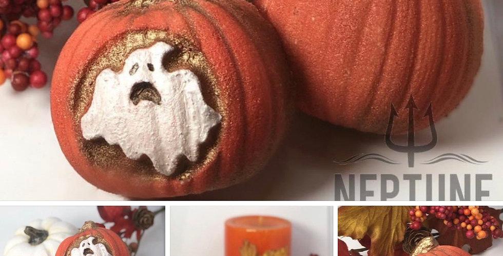 Medium Halloween Pumpkin Plastic Bath Bomb Mold Set