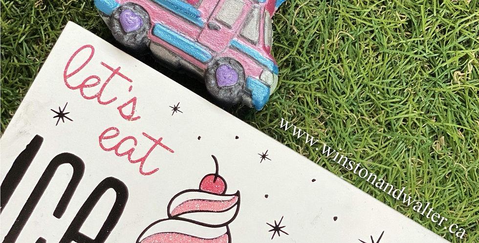 Large or Medium We Love Ice Cream Trucks Plastic Bath Bomb Mold