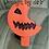 Thumbnail: Bitten Pumpkin Plastic Bath Bomb Mold