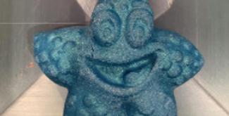 Smiling Star Fish Plastic Bath Bomb Mold
