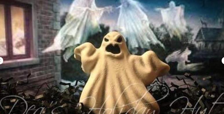 Screeching Ghost Plastic Bath Bomb Mold