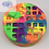 Thumbnail: Round Waffle Plastic Bath Bomb Mold with a pat of butta