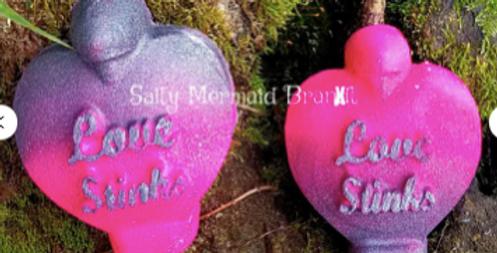 Love Stinks Perfume Bottle Plastic Bath Bomb Mold