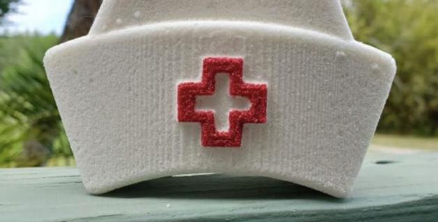 Nostalgic Nurse's Cap Plastic Bath Bomb Mold