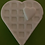 Thumbnail: Heart Waffle Bath Bomb Plastic Mold with a pat of butta