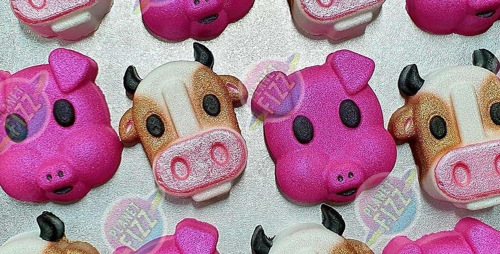 Farmyard Cow Plastic Bath Bomb Mold