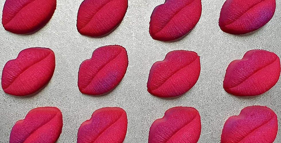 Medium Two Cavity Pucker Up Lips Plastic Mold