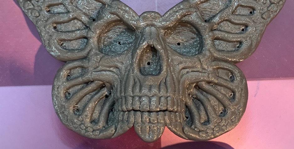 Large or Medium Skull Head Butterfly Plastic Bath Bomb Mold