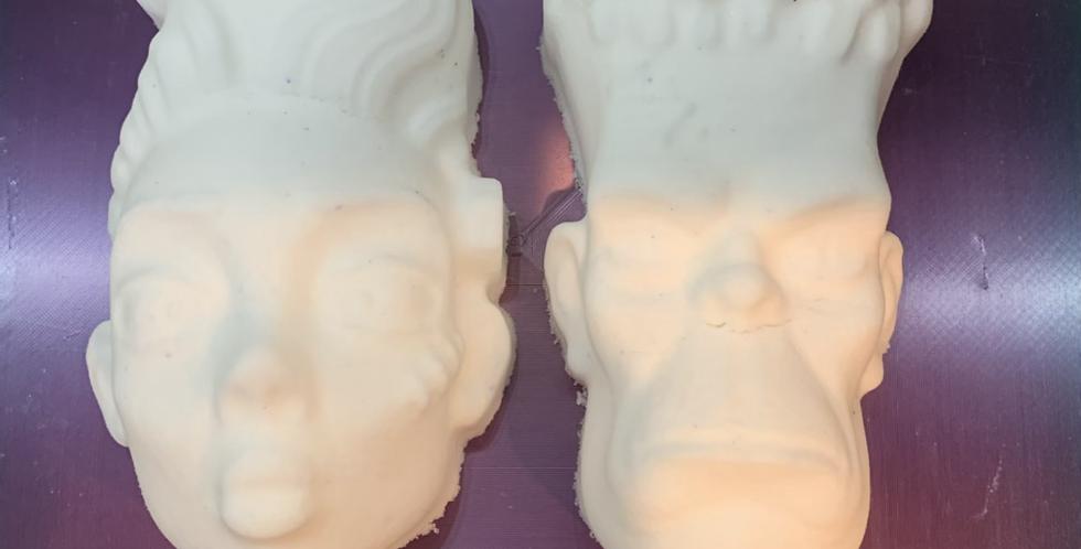 Jumbo Mr & Mrs. Frank Plastic Bath Bomb Mold- Set
