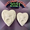 Thumbnail: Large or Medium Redesigned Planchette Plastic Bath Bomb Mold
