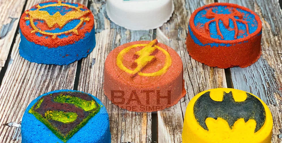 Power Characters Plastic Bath Bomb Mold Collection - Super Hero Pack