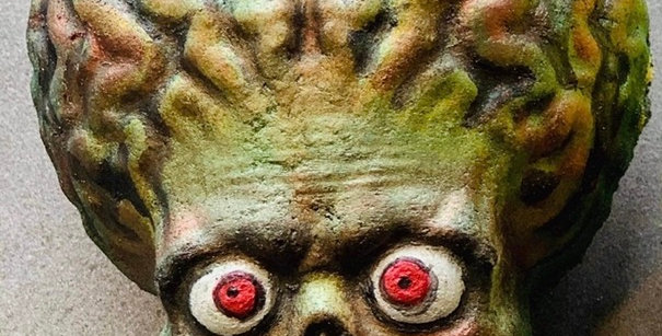 Alien Brain Mars Character Plastic Bath Bomb Mold