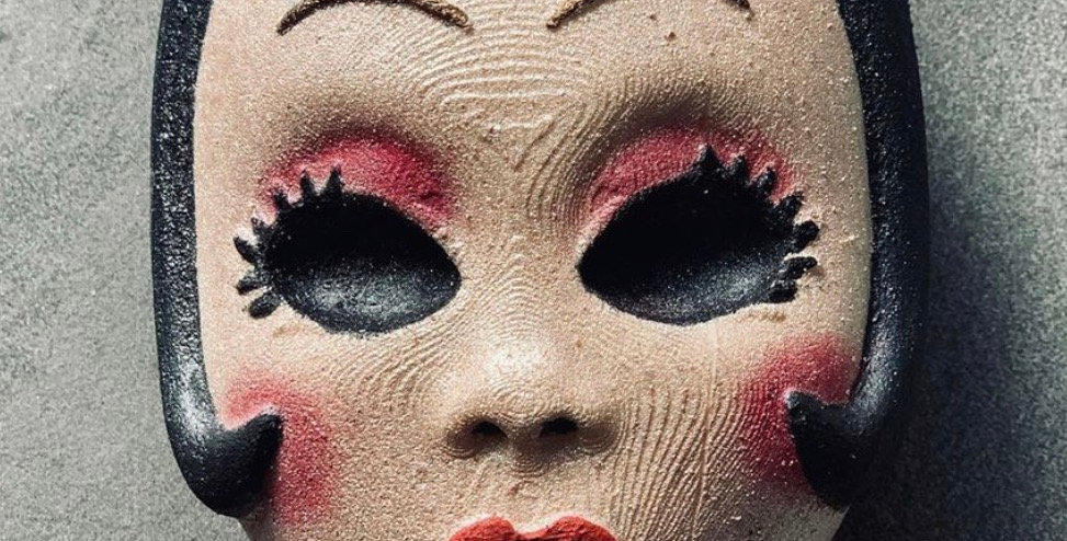 Scary Woman Mask Plastic Bath Bomb Mold