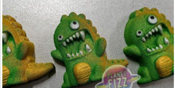 Scary Dinosaur Plastic Bath Bomb Mold