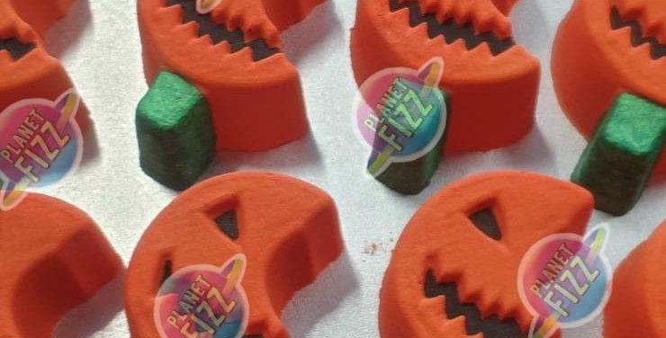 Bitten Pumpkin Plastic Bath Bomb Mold