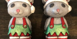 Holiday Mouse/Bear Plastic Bath Bomb Mold