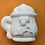 Thumbnail: Large or Medium Holiday Cocoa Mug Plastic Bath Bomb Mold