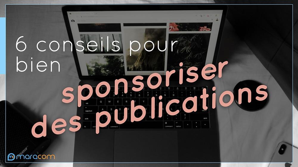 maracom budget communication sponsoriser publications réseaux sociaux