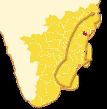 carte du circuit tamil nadu