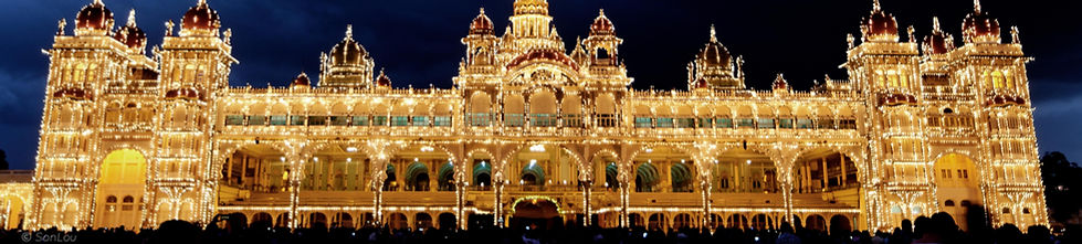 Palais de Mysore éclairé Inde
