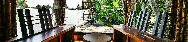 Intérieur d'un Houseboat Kérala
