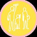 bulle jaune enfants adolescents etudiants