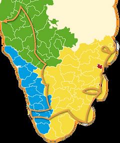 carte du circuit l'inde du sud incontournable