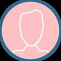 bulle rose profil silhouette