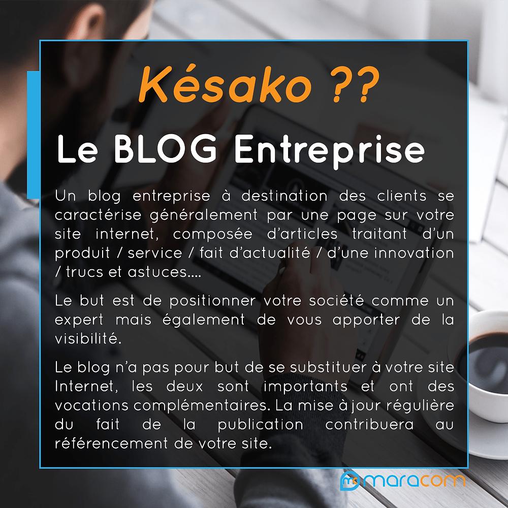 késako blog entreprise explication définition pourquoi faire un blog
