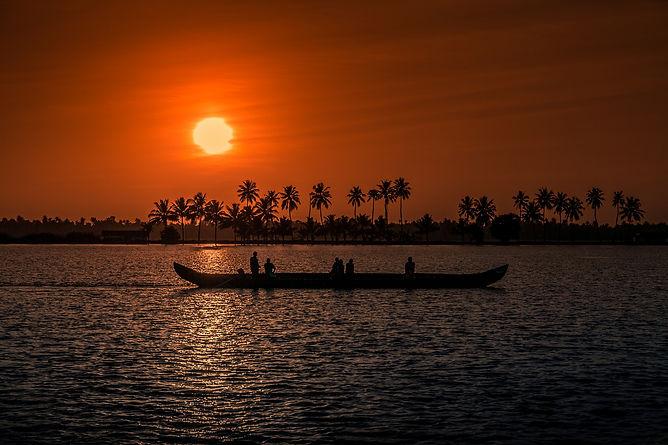 Coucher de soleil au Kérala