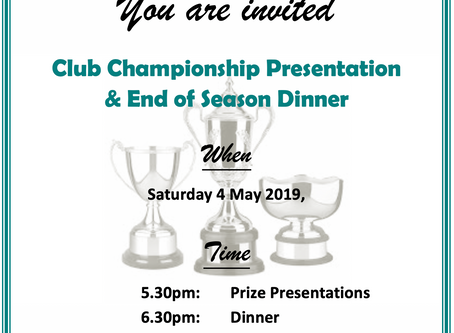 May 4 End of Season Function