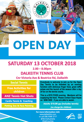 Club Open Day; 13 October