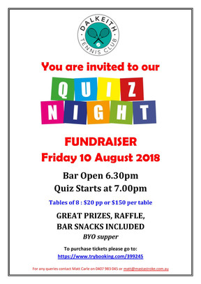 Quiz Night - 10 August