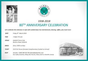 80th Anniversary Invite