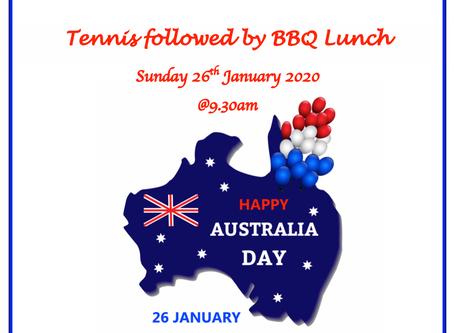 Australia Day - Tennis & BBQ