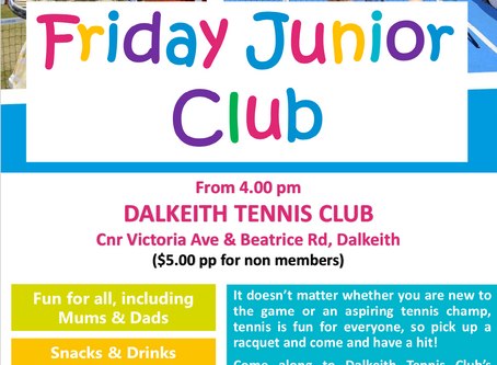 Junior Club Starts Again