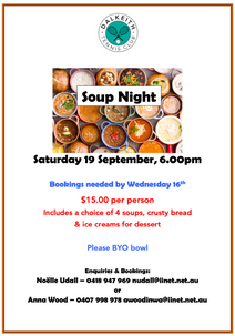 Soup Night - Saturday 19 September