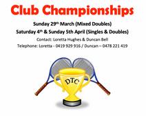 Club Championship Entry