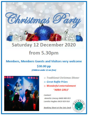 Christmas Party - Saturday 12 December