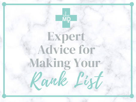 Expert Advice on Making Your Rank List