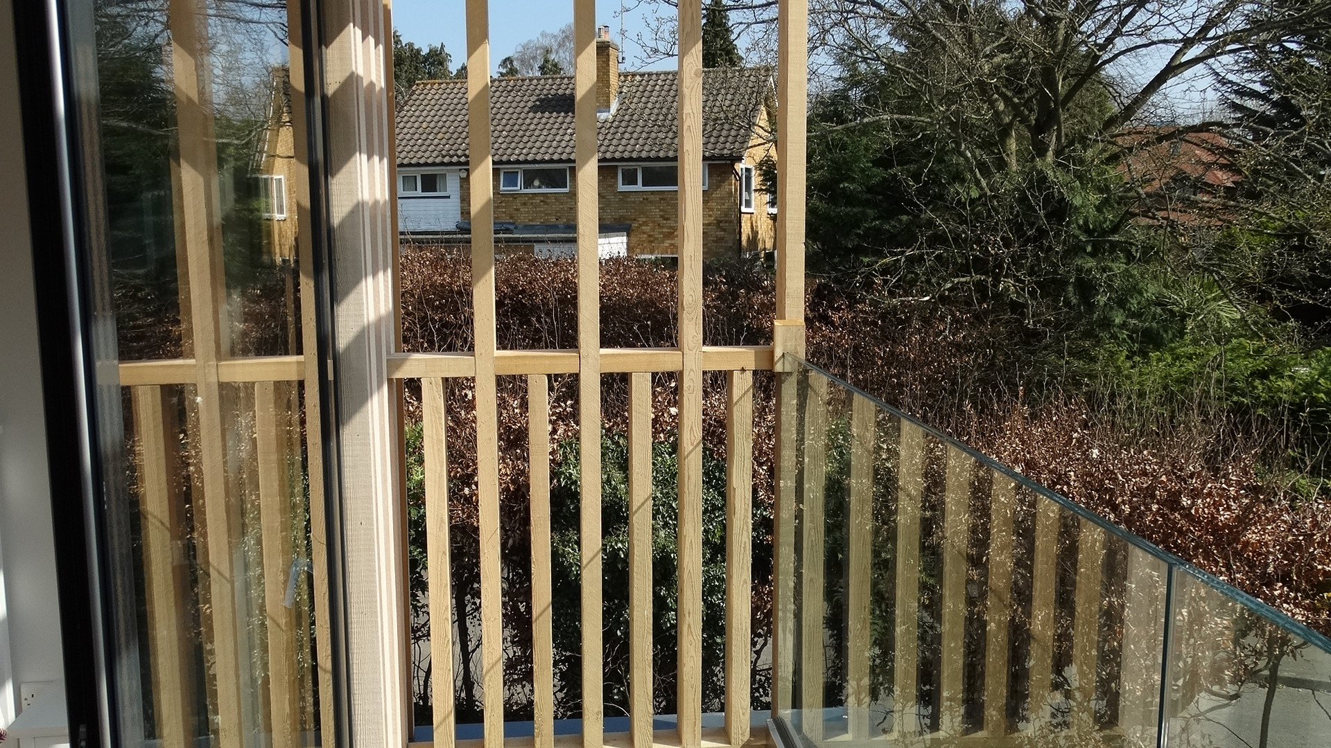 New House Build Balcony - Addington