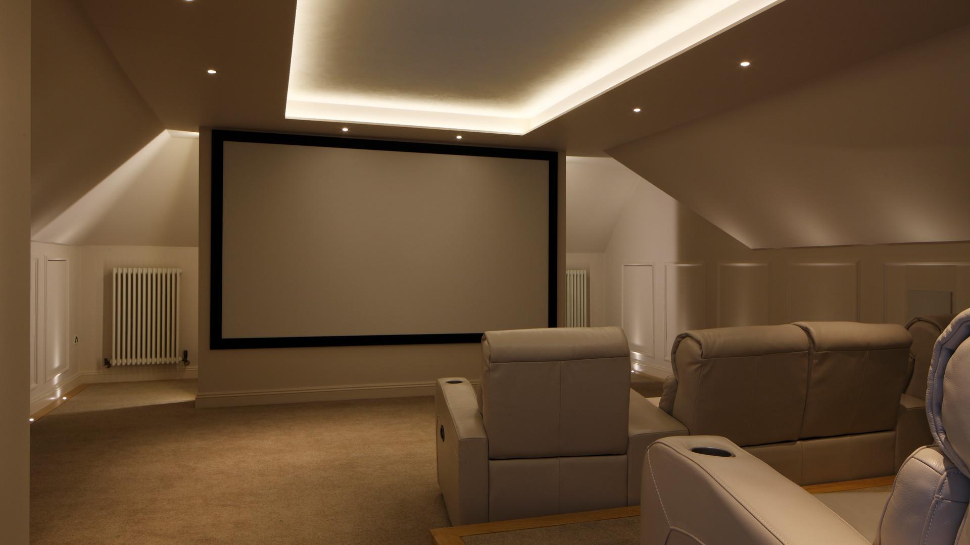Large House Reconstruction Cinema Room