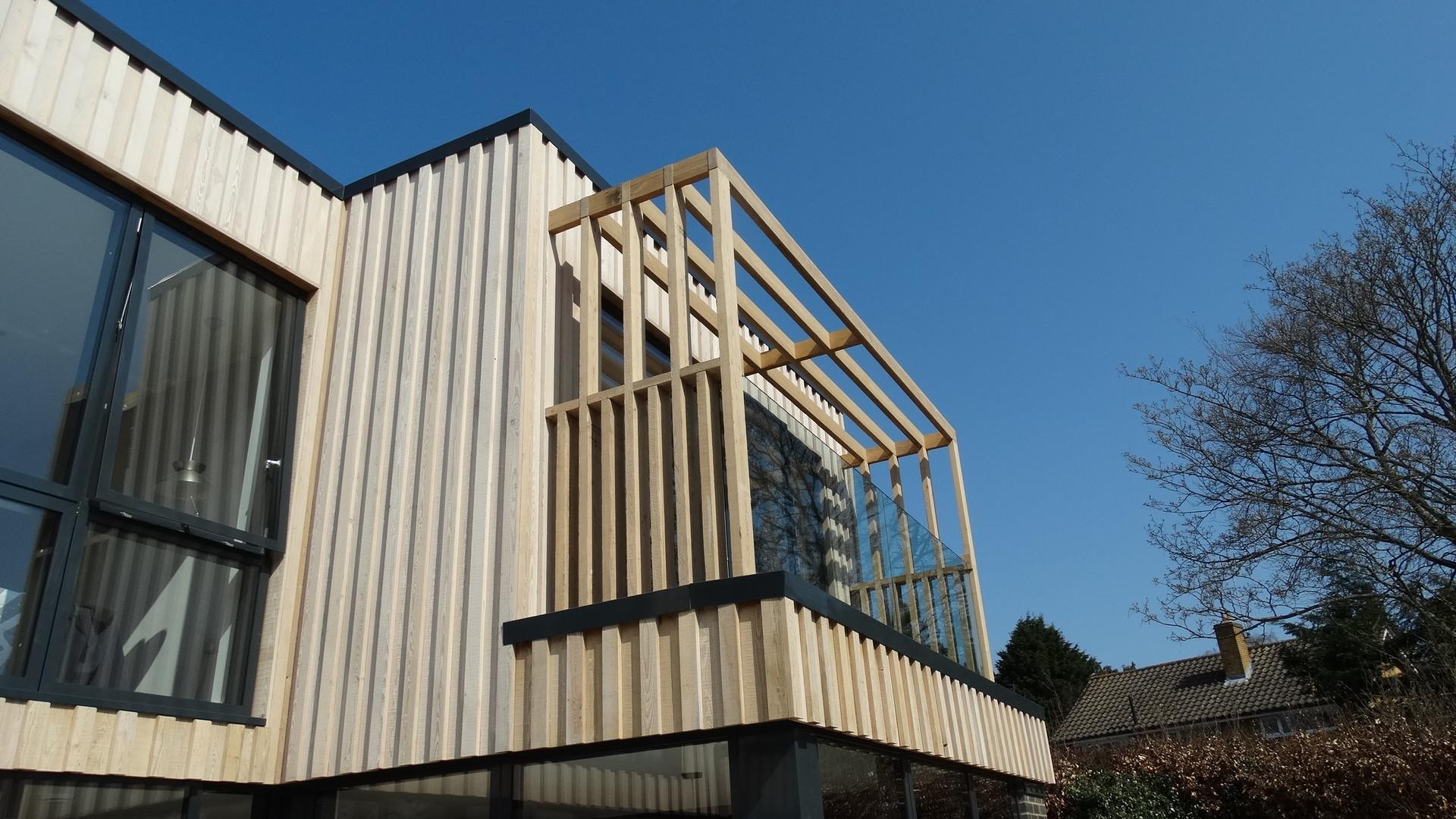 New House Build Exterior Seconf Floor - Addington