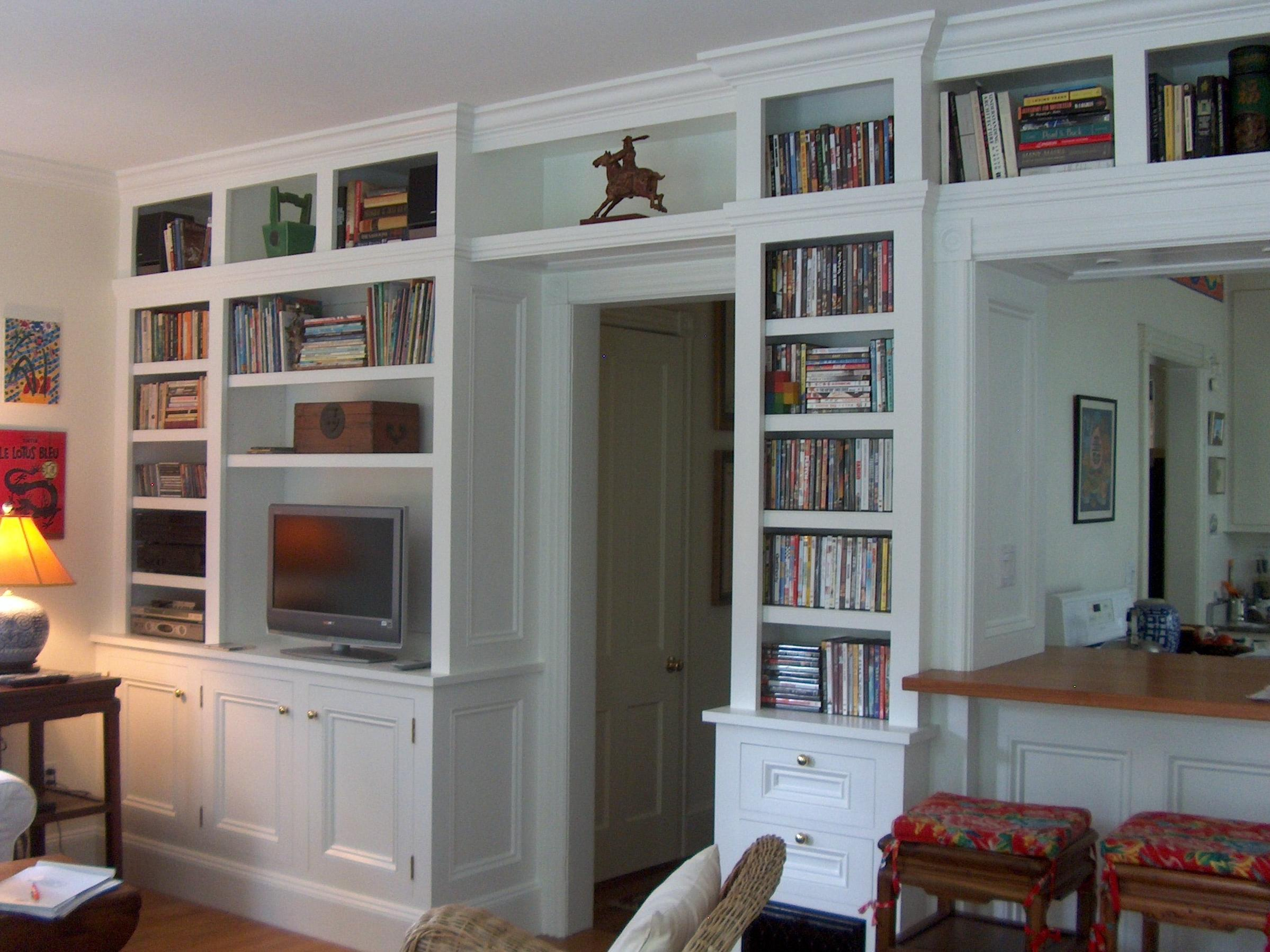 Bookcase media center