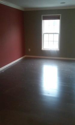 living room flooring install