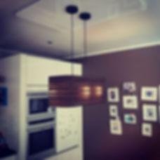 Designlamp met bijpassende plafondplaat