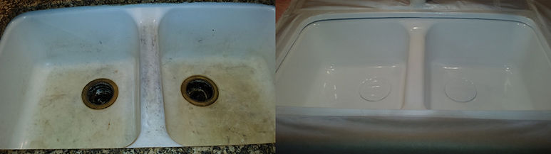 restored old double sink