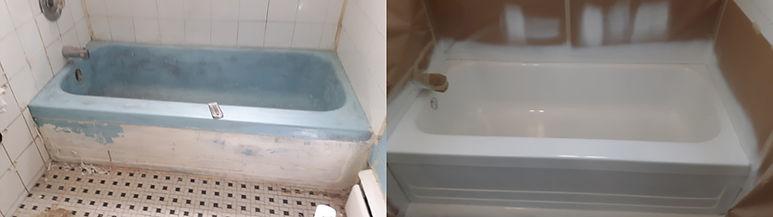 recoated cast iron bathtub