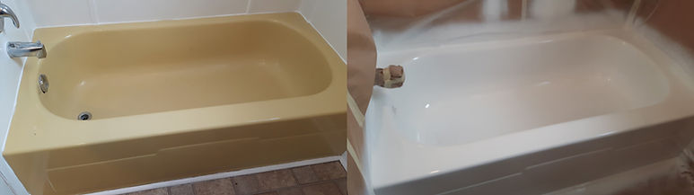 refinished old colored bathtub