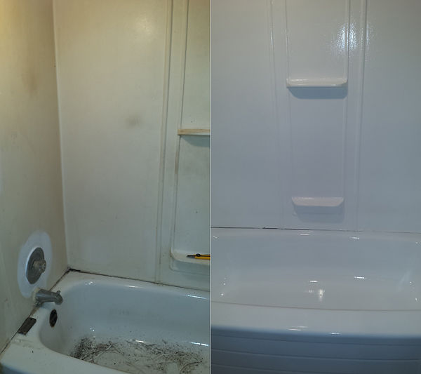 bathtub and shower insert recoating